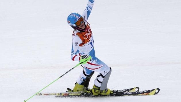 Niki Hosp holt erste Medaille für unsere Damen (Bild: AP)