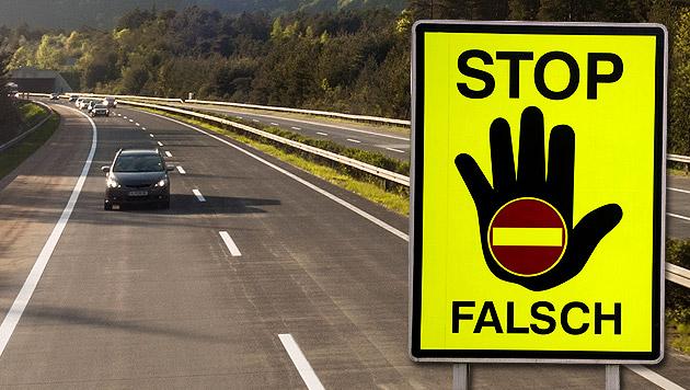 Noch nie so wenige Geisterfahrer wie im Vorjahr (Bild: thinkstockphotos.de, APA/HERBERT PFARRHOFER, krone.at-Grafik)