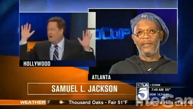 Samuel L. Jackson macht TV-Moderator nieder (Bild: Screenshot YouTube.com)