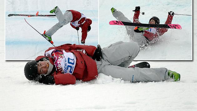 Schrecklicher Sturz von Ski-Slopestylerin Tsubota (Bild: AP, krone.at-Grafik)