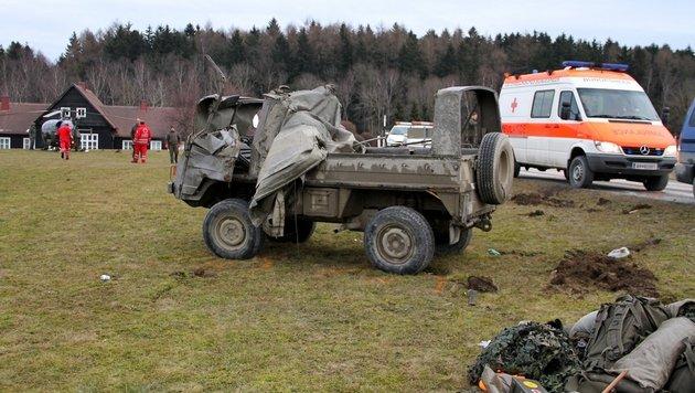 5 Soldaten bei Unfall mit Pinzgauer in NÖ verletzt (Bild: Österreichisches Bundesheer)