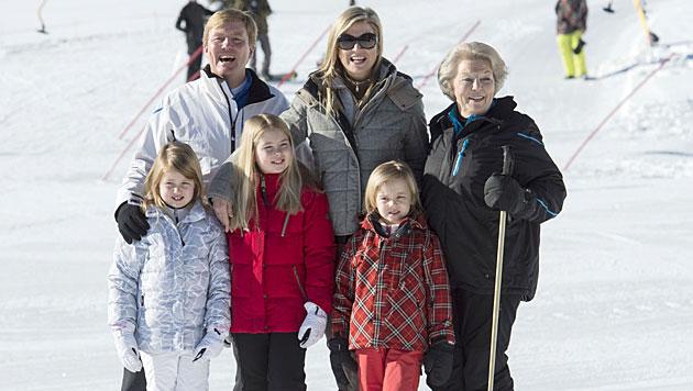 Holländische Königsfamilie urlaubt wieder in Lech (Bild: APA/DIETMAR STIPLOVSEK)
