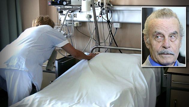 Josef Fritzl war inkognito in St. Pöltner Spital (Bild: APA/GUENTER R. ARTINGER, APA/Helmut Fohringer/Apa-Pool)