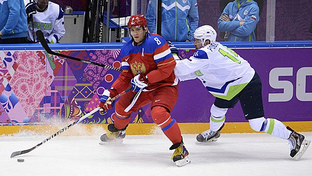 Russen starten Gold-Mission mit Sieg über Slowenen (Bild: APA/HELMUT FOHRINGER)