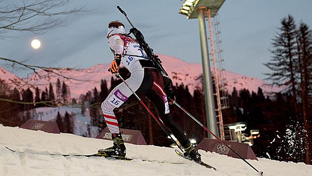 Simon Eder verfehlt Bronzemedaille um 3,3 Sekunden (Bild: APA/ROLAND SCHLAGER)