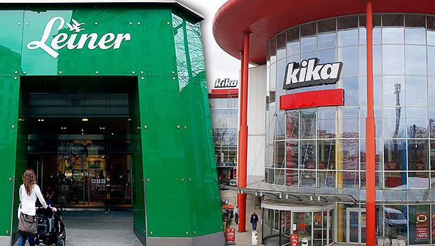 Bei Kika/Leiner wackeln bis zu 750 Arbeitsplätze (Bild: APA/GEORG HOCHMUTH, krone.at-Grafik)