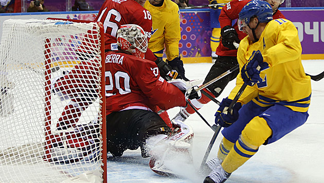 Tre-Kronor-Team erste Mannschaft im Viertelfinale (Bild: AP)