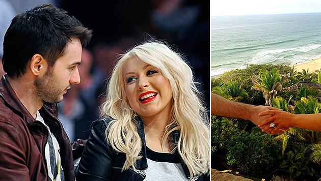 Sängerin Christina Aguilera hat sich verlobt (Bild: APA/EPA/PAUL BUCK, Twitter.com)