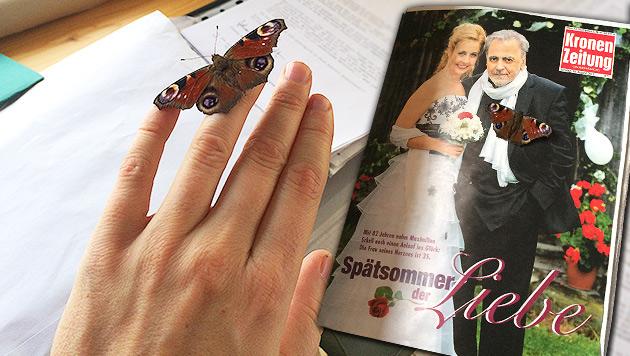 Schell-Witwe Iva über einen besonderen Abschied (Bild: Privat, krone.at-Grafik)