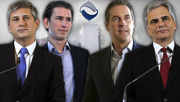 """""""Hypo-Pleite ein Verbrechen an den Österreichern"""" (Bild: APA/BARBARA GINDL, APA/HERBERT PFARRHOFER, APA/GEORG HOCHMUTH)"""