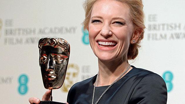 Cate Blanchett widmet ihren Bafta-Award Hoffman (Bild: APA/EPA/ANDY RAIN)