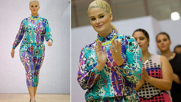Hayley Hasselhoff bei der britischen Plus-Size-Fashion-Week (Bild: Jonathan Short/Invision/AP, AFP)