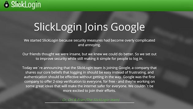 Google-Zukauf ergänzt Passwörter durch Ultraschall (Bild: slicklogin.com)