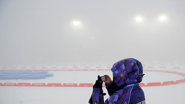 Nebel sorgt für serienweise Absagen bei Olympia (Bild: APA/Roland Schlager)