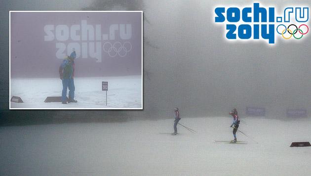 Nebel sorgt für serienweise Absagen bei Olympia (Bild: AP, APA/EPA/KAY NIETFELD, sochi2014.com)