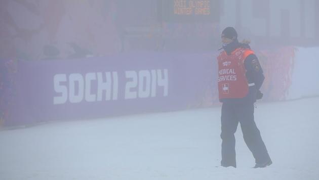Nebel sorgt für serienweise Absagen bei Olympia (Bild: APA/EPA/JENS BUETTNER)