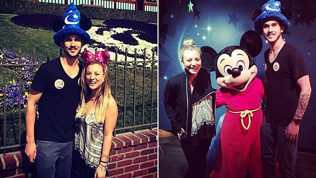 Cuoco und Sweeting flitterten in Disneyland (Bild: instagram.com)