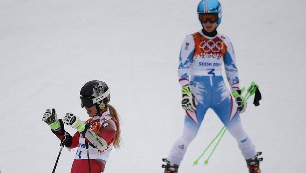 Fenninger braust im RTL zu Silber - Maze holt Gold (Bild: AP)