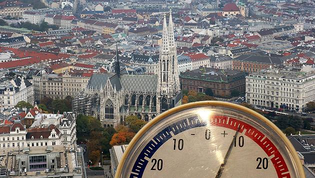 Ist der Winter in Wien bereits vorüber? (Bild: Klemens Groh, dpa/dpa-Zentralbild/Patrick Pleul, krone.at-Grafik)