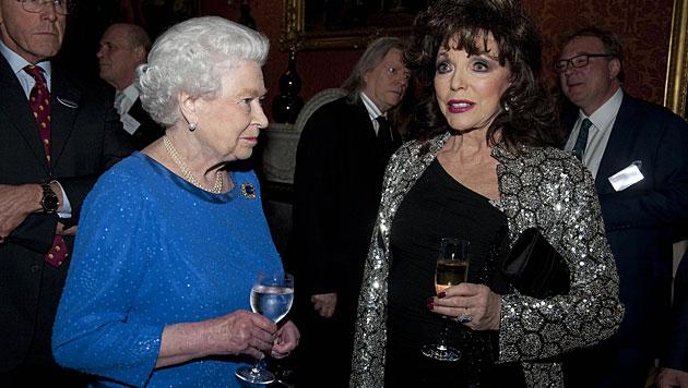 Kate stahl bei Queen-Empfang Filmstars die Show (Bild: AP)