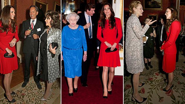 Kate stahl bei Queen-Empfang Filmstars die Show (Bild: AP, APA/EPA/YUI MOK/PA WIRE)