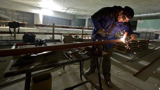 Bauarbeiten am Wiener Hauptbahnhof schreiten voran (Bild: APA/HERBERT NEUBAUER)