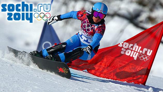 Snowboarderin Meschik schrammt an Medaille vorbei (Bild: APA/EPA/JENS BUETTNER)
