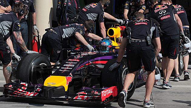 Vettel in Bahrain erneut mit großen Problemen (Bild: AP)