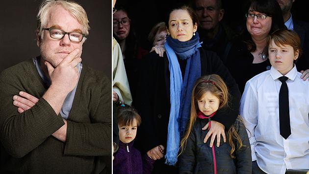 Hoffman: Kein Hollywood-Leben für Sohn Cooper (10) (Bild: VICTORIA WILL/INVISION/AP, APA/EPA/ANDREW GOMBERT)