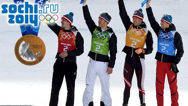 Österreichs Kombinierer holen Bronzemedaille (Bild: APA/ROLAND SCHLAGER, sochi2014.com)