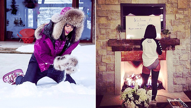 Rihanna: Heiße Party im kalten Nobel-Skiort (Bild: Instagram)