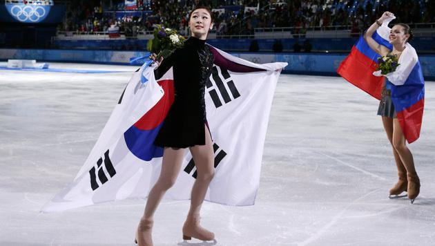 Empörung um Eiskunstlauf-Gold für Russin Sotnikowa (Bild: AP)