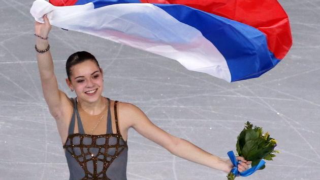 Empörung um Eiskunstlauf-Gold für Russin Sotnikowa (Bild: EPA)