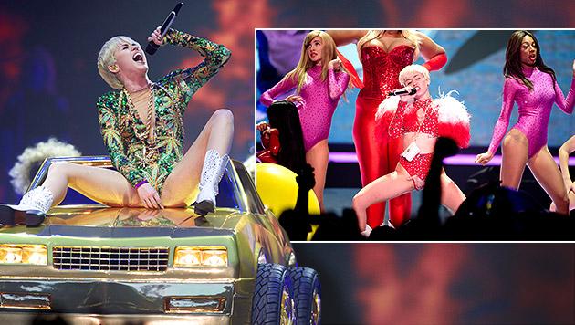 """Miley: """"Sagt nicht, ich hätte euch nicht gewarnt!"""" (Bild: Stephen Brashear/Invision/AP, AP, krone.at-Grafik)"""
