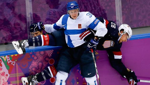 Finnen demütigen im kleinen Finale USA mit 5:0 (Bild: AP)