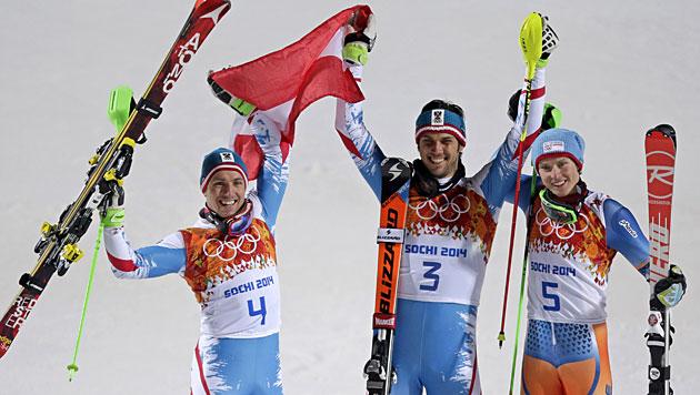 Matt und Hirscher holen Gold und Silber (Bild: AP)