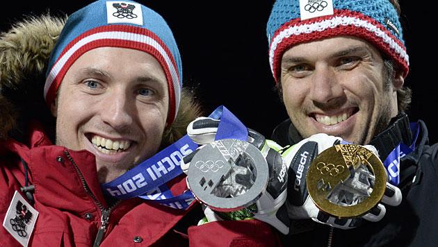 Matt und Hirscher holen Gold und Silber (Bild: APA/Hans Klaus Techt)
