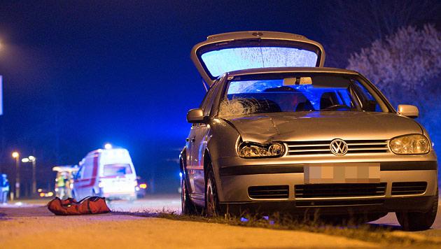 17-jähriger Schüler von Auto erfasst - tot (Bild: Werner Kerschbaummayr)
