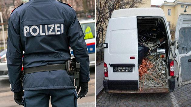 Wien: Kupferkabeldiebe erbeuteten 3 Tonnen Metall (Bild: Andreas Graf, Polizei)