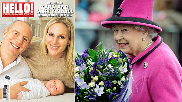 Das ist das erste Foto vom Urenkerl der Queen (Bild: Hello!, EPA)