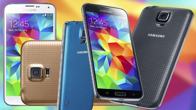 Galaxy S5 wird in Südkorea bereits verkauft (Bild: Samsung, krone.at-Grafik)