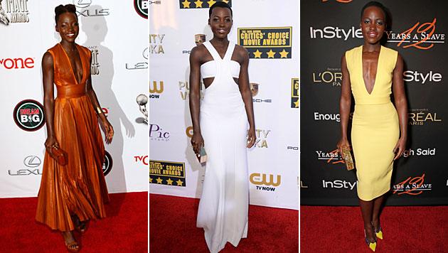 'People' kürt Lupita Nyong'o zur schönsten Frau (Bild: Jordan Strauss/Arnold Turner/Invision/AP, Invision for InStyle)
