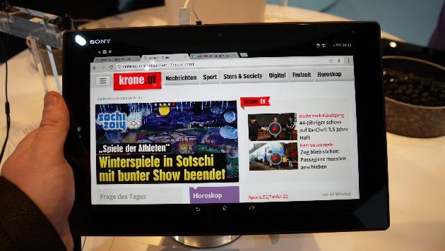 Smartphone und Tablet: Neue Flaggschiffe von Sony (Bild: Dominik Erlinger)