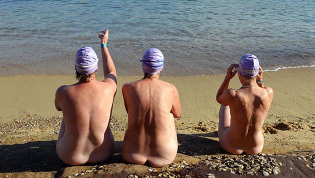 Weltrekordversuch im Nacktbaden nahe Sydney (Bild: AFP)