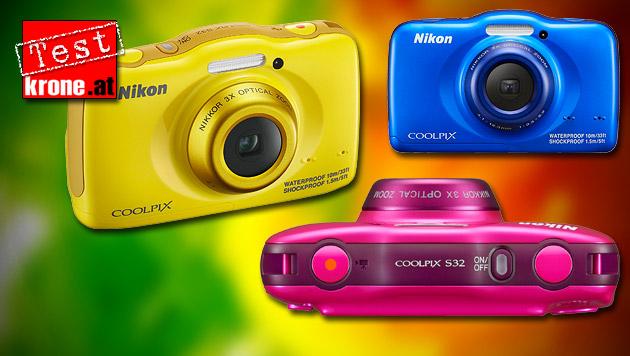 Coolpix S32: Nikons Einfachst-Kamera im Test (Bild: thinkstockphotos.de, Nikon, krone.at-Grafik)