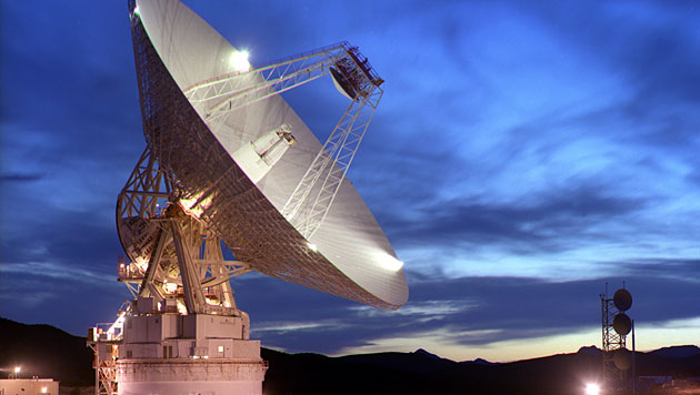 Das 70-Meter-Radioteleskop am Goldstone Observatory in Kalifornien (Bild: NASA/JPL)