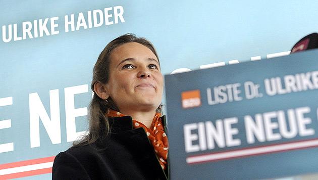 BZÖ-Kandidatin Haider-Quercia für NATO-Beitritt (Bild: APA/HERBERT PFARRHOFER)