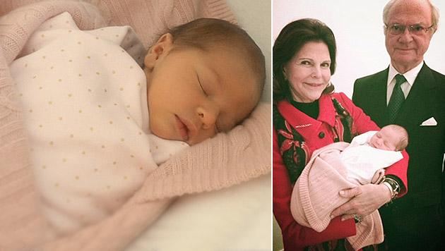 Baby von Madeleine heißt Leonore Lilian Maria (Bild: kungahuset.se/Madeleine, Christopher O'Neill)