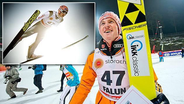Freund-Triumph in Falun, Kraft als bester Adler 5. (Bild: APA/EPA/ULF PALM, krone.at-Grafik)