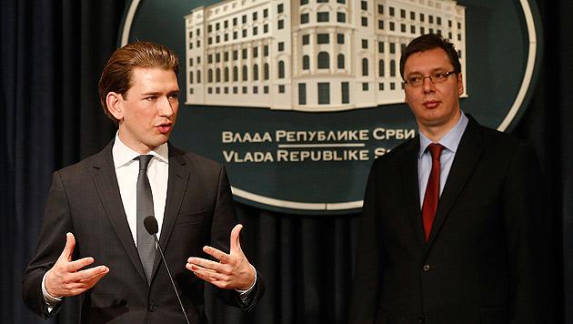 Kurz sichert Serbien Hilfe bei EU-Annäherung zu (Bild: APA/DRAGAN TATIC)